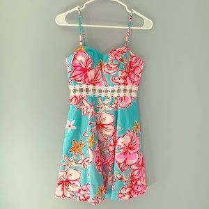 NWT Lenore Lace Cut-Out Sundress-Sunglow